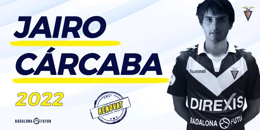 JAIRO CARCABA RENUEVA CON EL CF BADALONA.